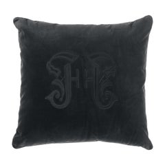 Gianfranco Ferré Home Gothic Black Cushion in Velvet
