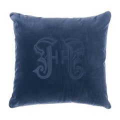 Gianfranco Ferre Gothic Blue Cushion in Velvet