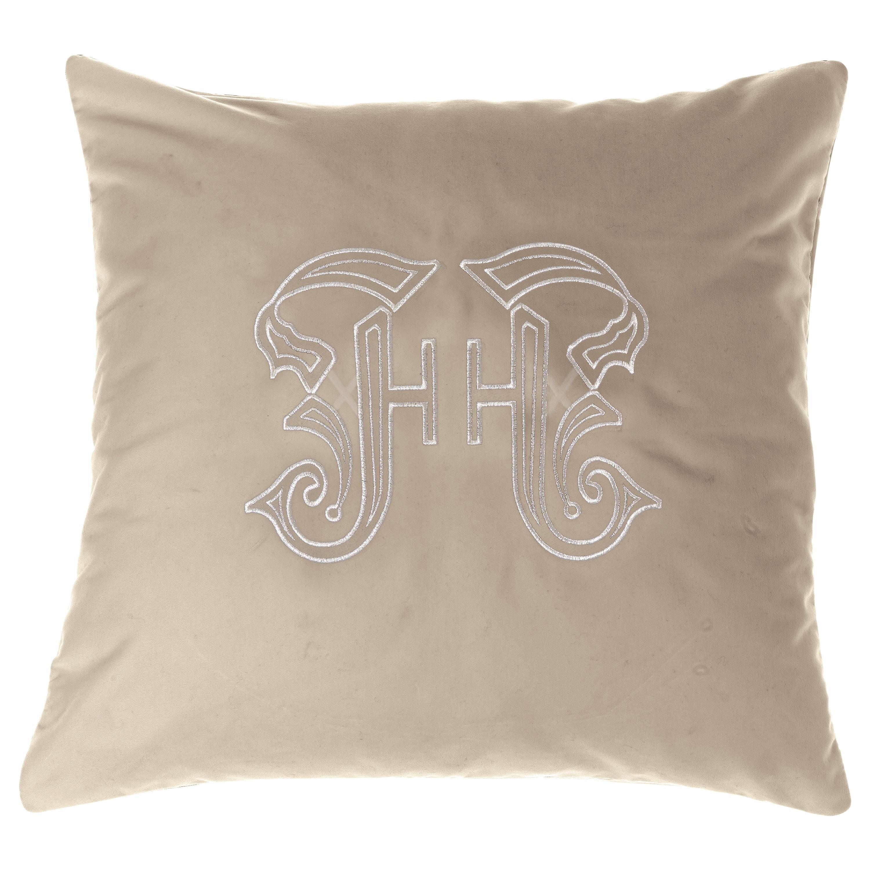Gianfranco Ferré Home Gothic Lamé Beige Cushion in Velvet