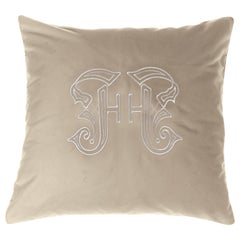 Gianfranco Ferré Home Gothic Lamé Beige Cushion in Velvet