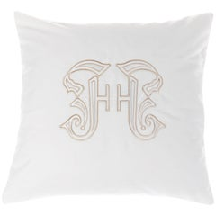Gianfranco Ferré Home Gothic Lamé White Cushion in Velvet