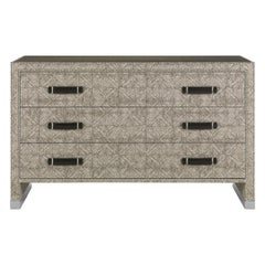 Gianfranco Ferré Home Hamilton Chest of Drawers covered in Fabric