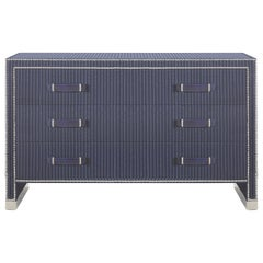 Gianfranco Ferré Hamilton Chest of Drawers in Poplar and Wool