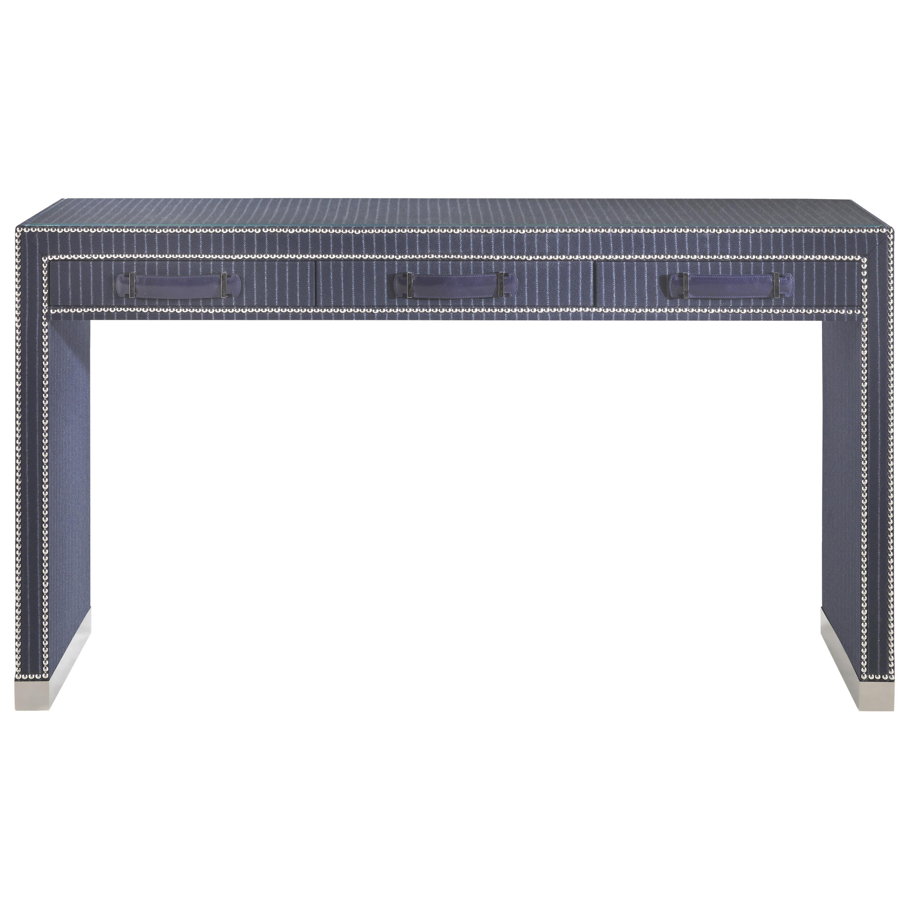 Gianfranco Ferré Home Hamilton Dressing Table covered in Wool