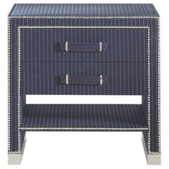 Gianfranco Ferré Hamilton Night Table in Poplar and Wool