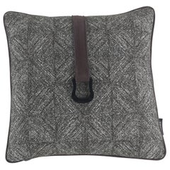 Gianfranco Ferré Harlem Cushion in Fabric and Leather