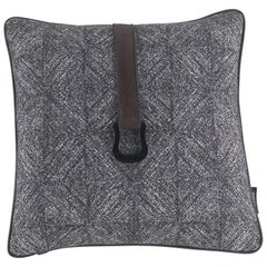 Gianfranco Ferré Harlem Pillow in Grey Fabric