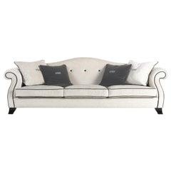 Gianfranco Ferré Harmony Sofa in Ice Chenille Upholstery