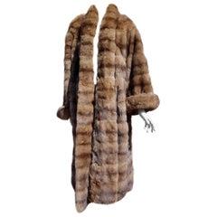 Gianfranco FERRÉ Haute Couture Brown Wild Russian Whole Skins Sable Fur Coat