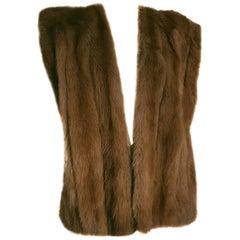 Gianfranco FERRÉ Haute Couture wild marten brown fur vest gilet - Unworn