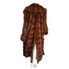 Gianfranco FERRE Haute Couture Wild Russian Whole Skins Mink Long Fur Coat