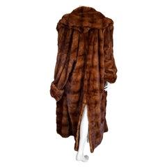 Gianfranco FERRE Haute Couture Wild Russian Whole Skins Mink Long Fur Coat