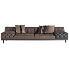 Gianfranco Ferré Highlander 2-Seat Sofa in Leather Upholstery