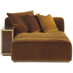 Gianfranco Ferré Highlander Dormeuse in Leather Upholstery