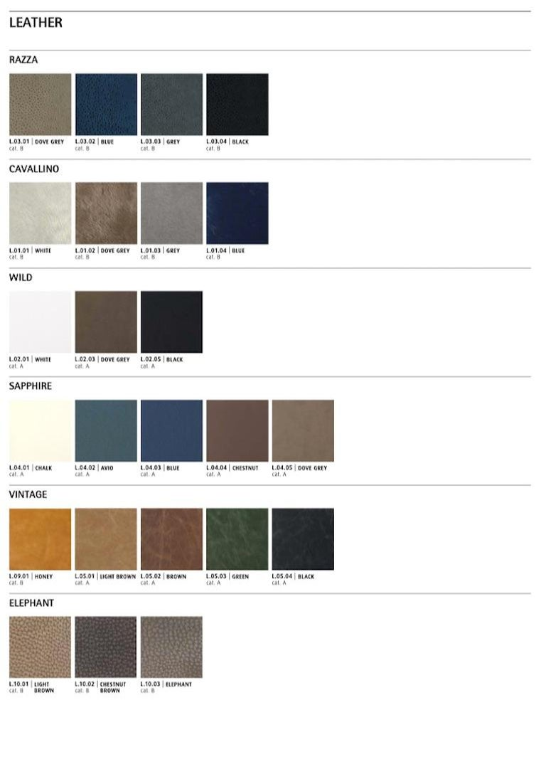Contemporary Gianfranco Ferré Home Highlander Modular Sofa in Leather For Sale