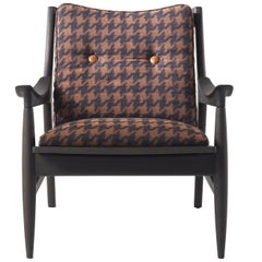 Gianfranco Ferré Home Franklin Armchair in fabric Pied-de-Poule