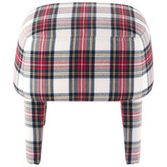 Gianfranco Ferré Home Mini Pouf in Iconic wool TARTAN 1