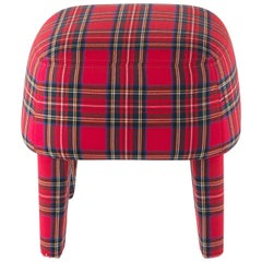 Gianfranco Ferré Home Mini Pouf in Iconic Wool TARTAN 2