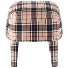 Gianfranco Ferré Home Mini Pouf in Iconic Wool Tartan 3
