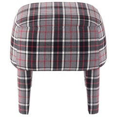 Gianfranco Ferré Home Mini Pouf in Iconic Wool Tartan 5