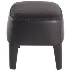 Gianfranco Ferré Home Mini Pouf in Leather Black