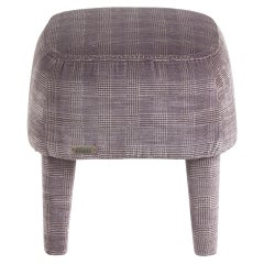 Gianfranco Ferré Home Mini Pouf in Wool Iconic Cotton Fabric