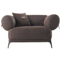 Gianfranco Ferré Home Phoenix Armchair in Fabric Prince of Wales