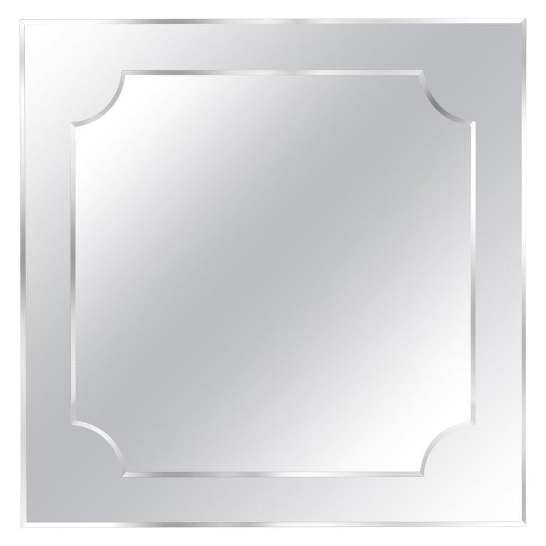 Gianfranco Ferre Howard Square Mirror in Poplar For Sale