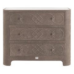 Gianfranco Ferré Home Infinity Chest of Drawers in Nabuk
