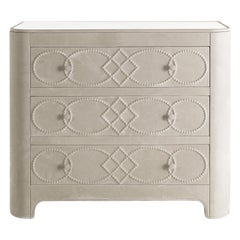 Gianfranco Ferré Home Infinity Chest of Drawers covered in Nabuk
