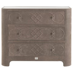 Gianfranco Ferre Infinity Chest of Drawers in Tan Leather