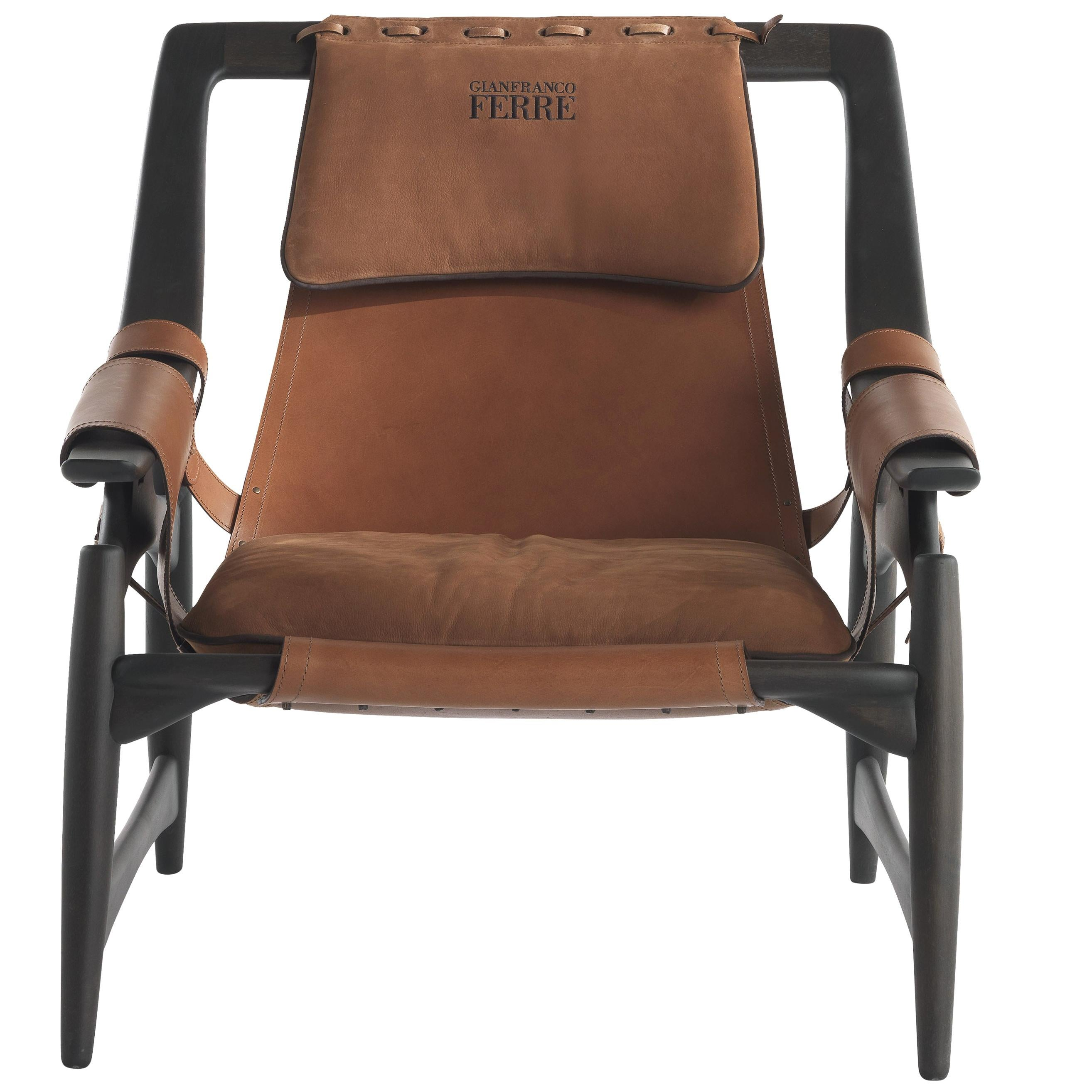 Gianfranco Ferré Home Kalamaja Armchair in Leather