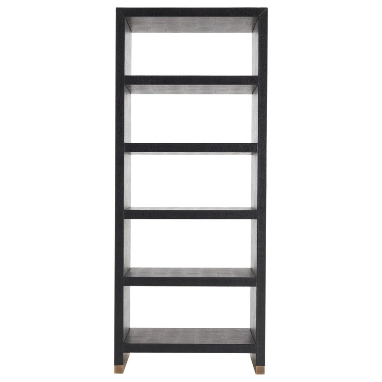 Gianfranco Ferré Kay Bookcase in Poplar with Leather Upholstery For Sale