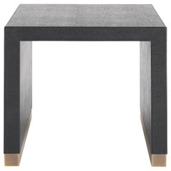 Gianfranco Ferré Home Kay Side Table covered in Leather