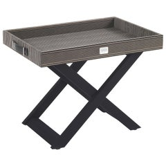 Gianfranco Ferré Home Kensington Side Table in Wood with Tray