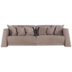 Gianfranco Ferré Kilt Sofa in Leather Upholstery