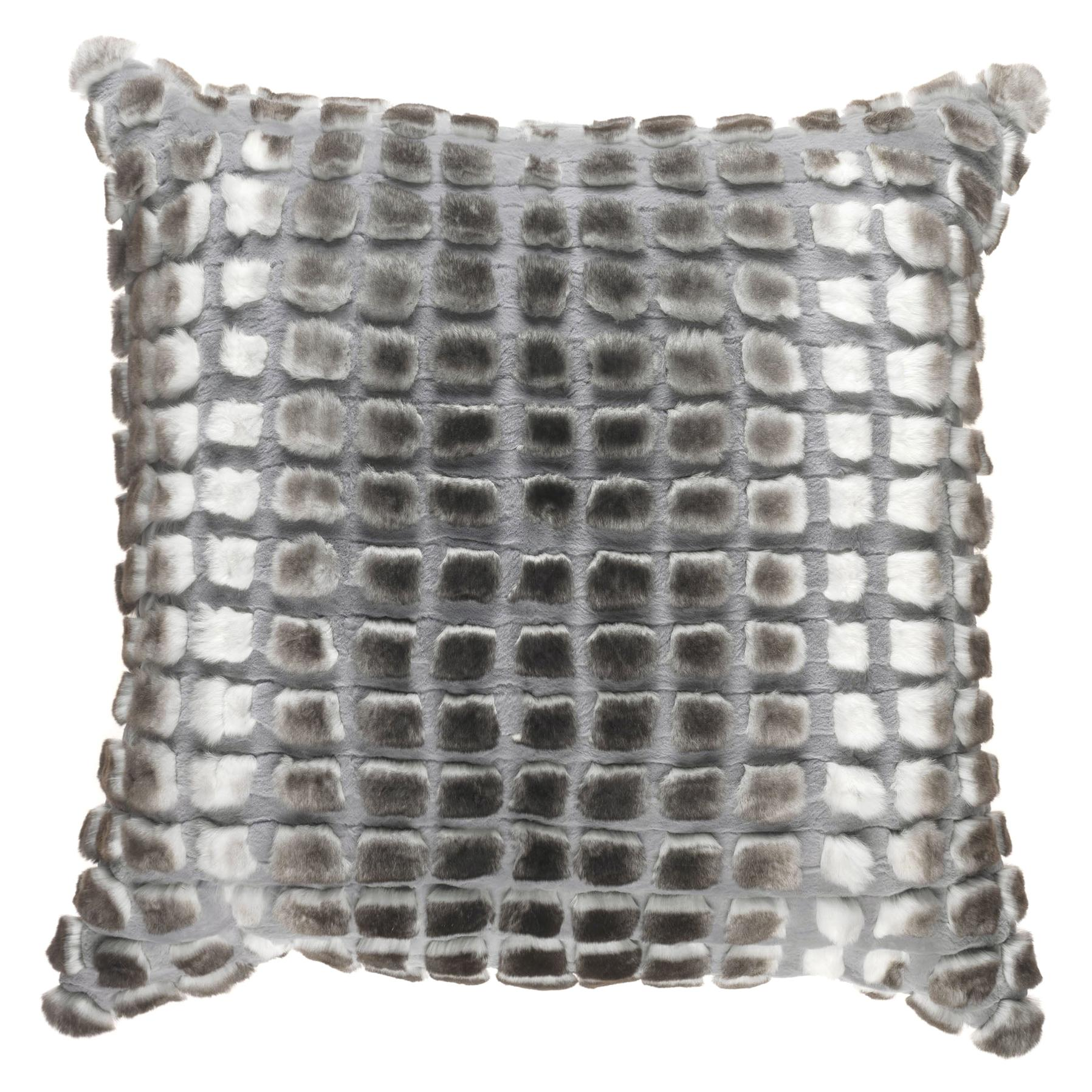 Gianfranco Ferré Home Kirah Bouclé Grey Cushion in Orylag and Velvet