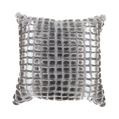 Gianfranco Ferré Kirah Boucle Pillow in Grey Orylag Fur