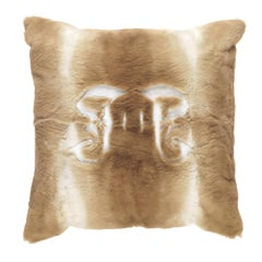 Gianfranco Ferré Home Kirah Gothic Beige Negative Cushion in Orylag and Velvet