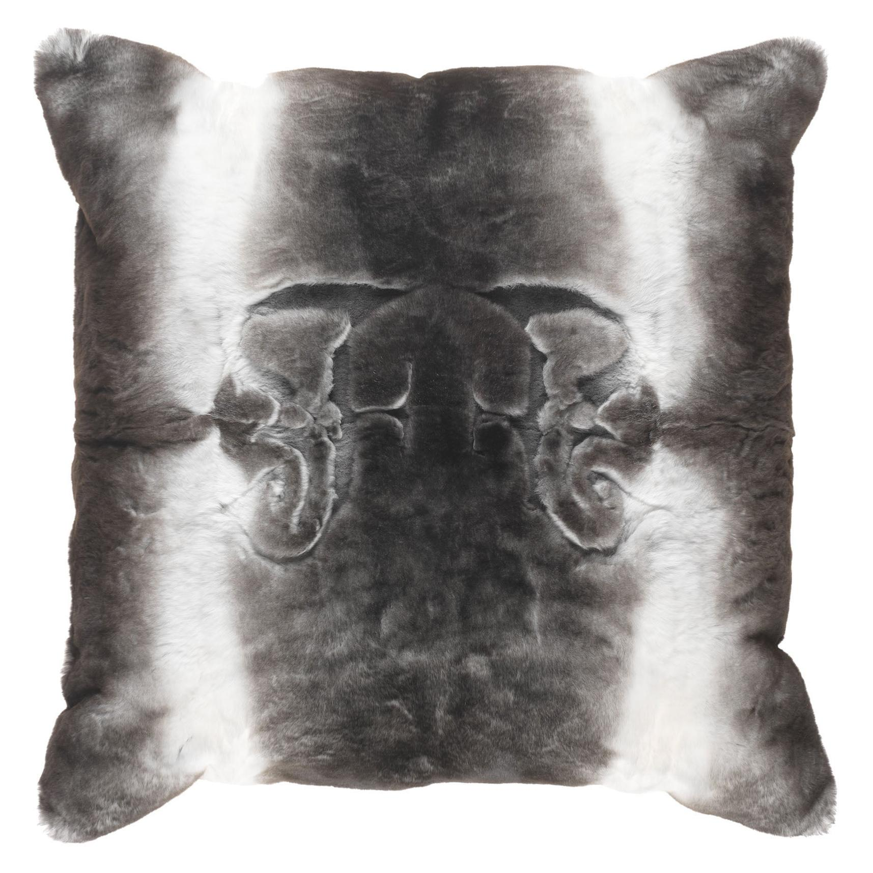Gianfranco Ferré Home Kirah Gothic Grey Negative Cushion in Orylag and Velvet