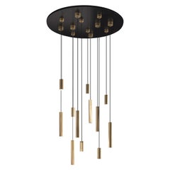 Gianfranco Ferré Home Large Hope Chandelier in Brass and Iron