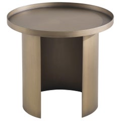 Gianfranco Ferré Home Large Moss Side Table in Metal and Bronze Finish