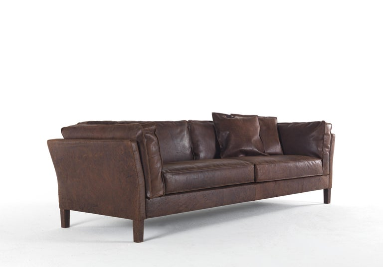 Seat Sofa In Leather Upholstery
