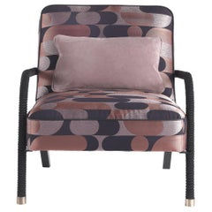 Gianfranco Ferré Home Loop Armchair in 1950s Pink Jacquard
