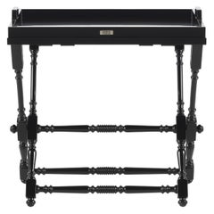 Gianfranco Ferré Home Max Side Table in Black Lacquered Finishing