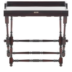 Gianfranco Ferré Home Max Side Table in Mahogany Finishing