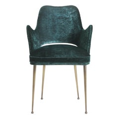 Gianfranco Ferre McAdam Chair in Fabric Upholstery