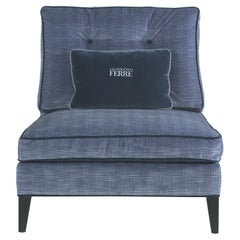 Gianfranco Ferré Home Melvin Armchair in Wool Iconic Cotton