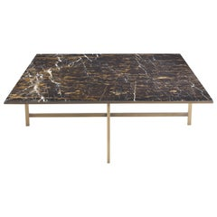 Gianfranco Ferré Miller Central Table With Structure in Metal and Marble Top