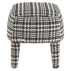 Gianfranco Ferré Mini Pouf in Wood and Woven Upholstery